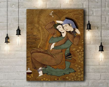 A  Riza Abassi: The Lovers. Fine Art Canvas.